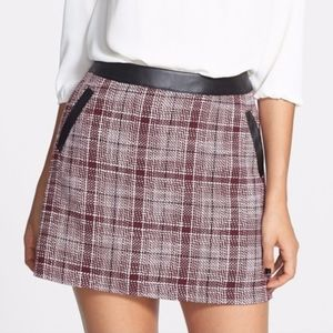 Frenchi Tweed Plaid Skirt